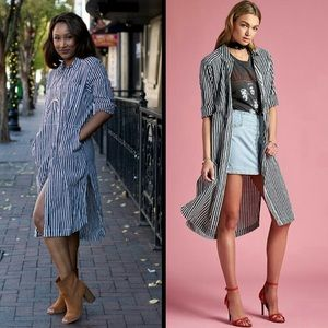 FREE PEOPLE Faded In The Morning Shirt Dress NEW